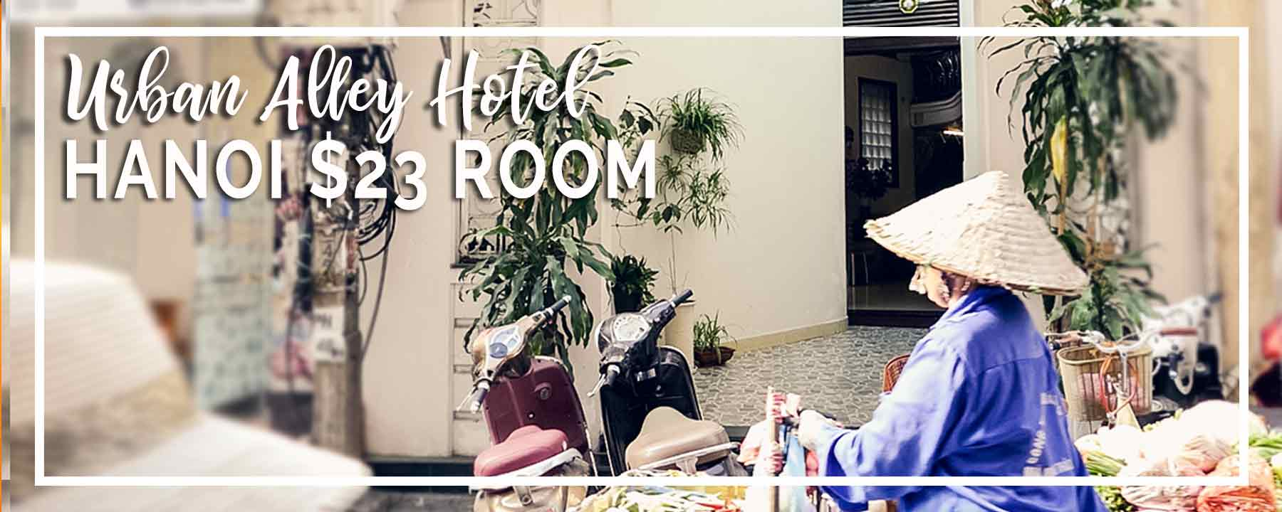 Budget Hanoi | $23 for Urban Alley Hotel Room, Downtown Heritage Area